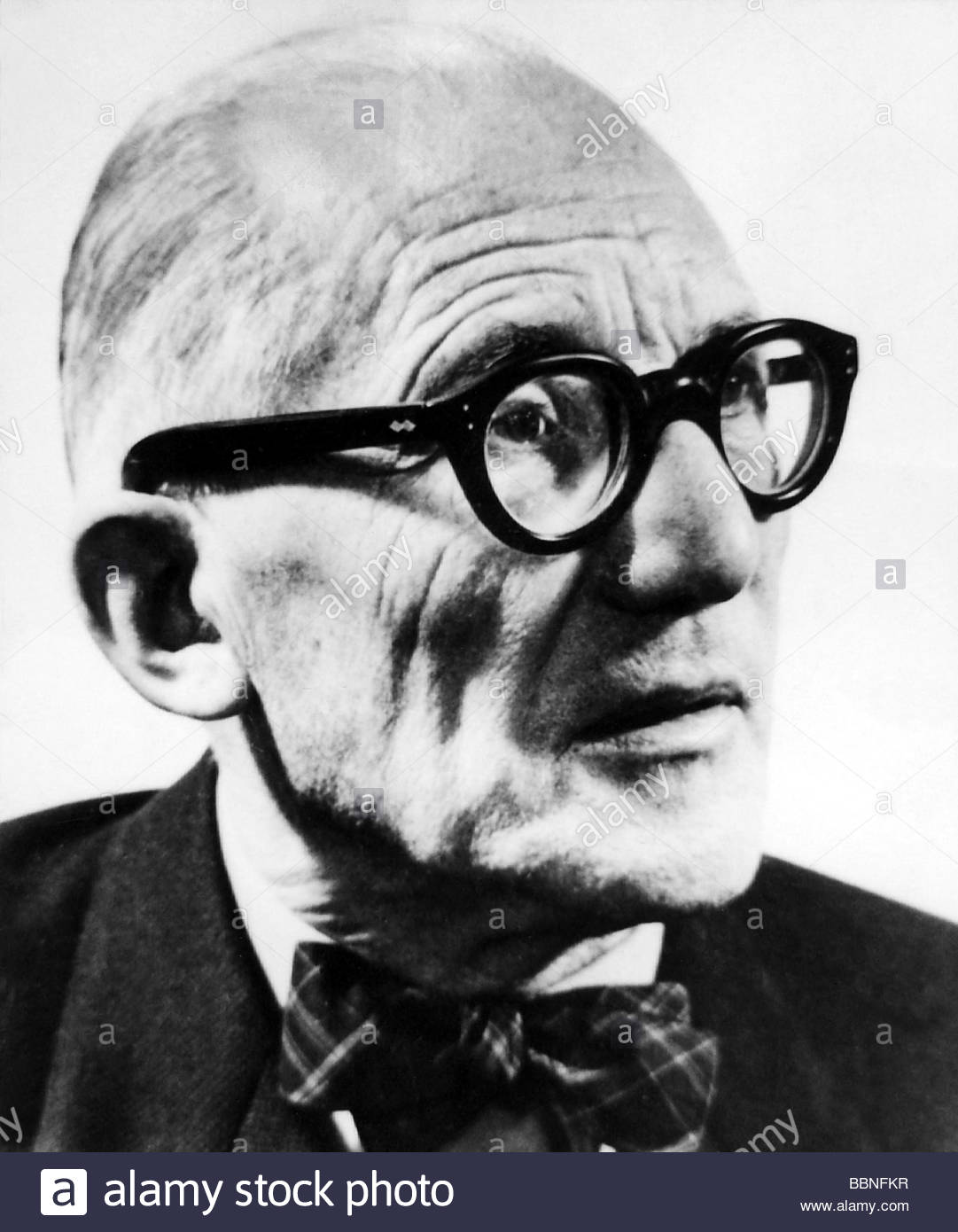 Le Corbusier (Charles-Edouard Jeanneret-Gris), 6.10.1887 - 27.8.1965, Swiss - French architect, portrait, 1950s, - Stock Image
