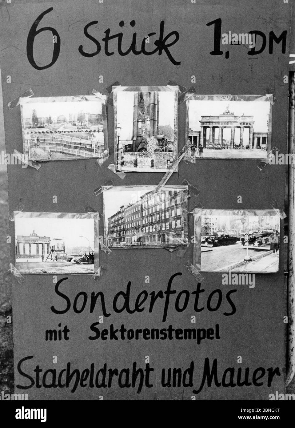geography / travel, Germany, Berlin, wall, souveniers, photos, 1962, Additional-Rights-Clearances-NA - Stock Image