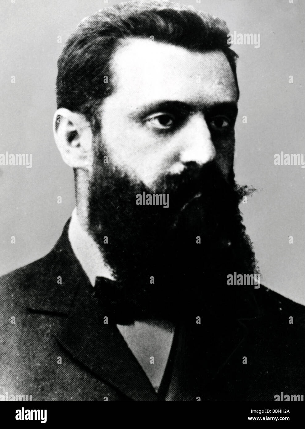 Herzl, Theodor, 2.5.1860 - 3.7.1904, Hungarian Austrian author / writer and politician, portrait, after photography, Stock Photo