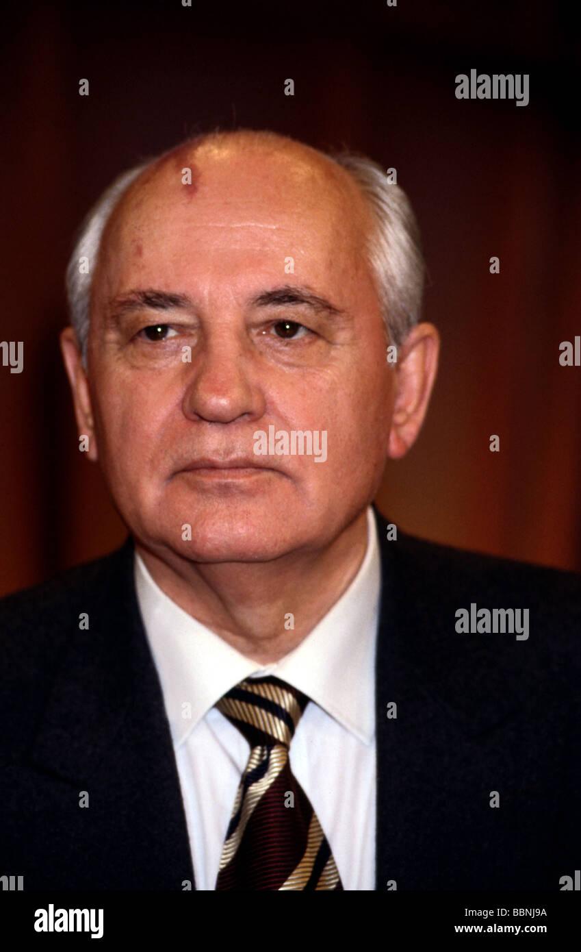 Gorbachev, Mikhail, * 2.3.1931, Soviet politician (KPdSU), portrait, 1997, Additional-Rights-Clearances-NA - Stock Image