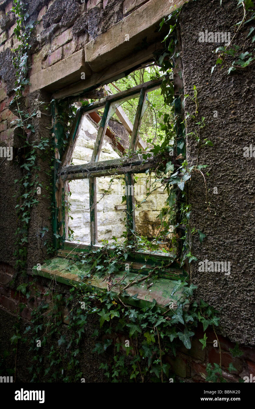 Derelict Farmhouse Egton Bridge North Yorkshire - Stock Image