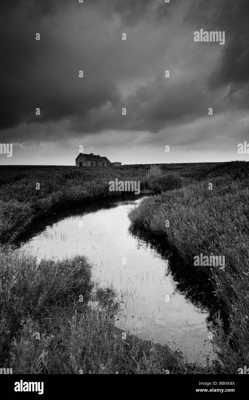 Shooting house egton high moor north york moors national park yorkshire stock image