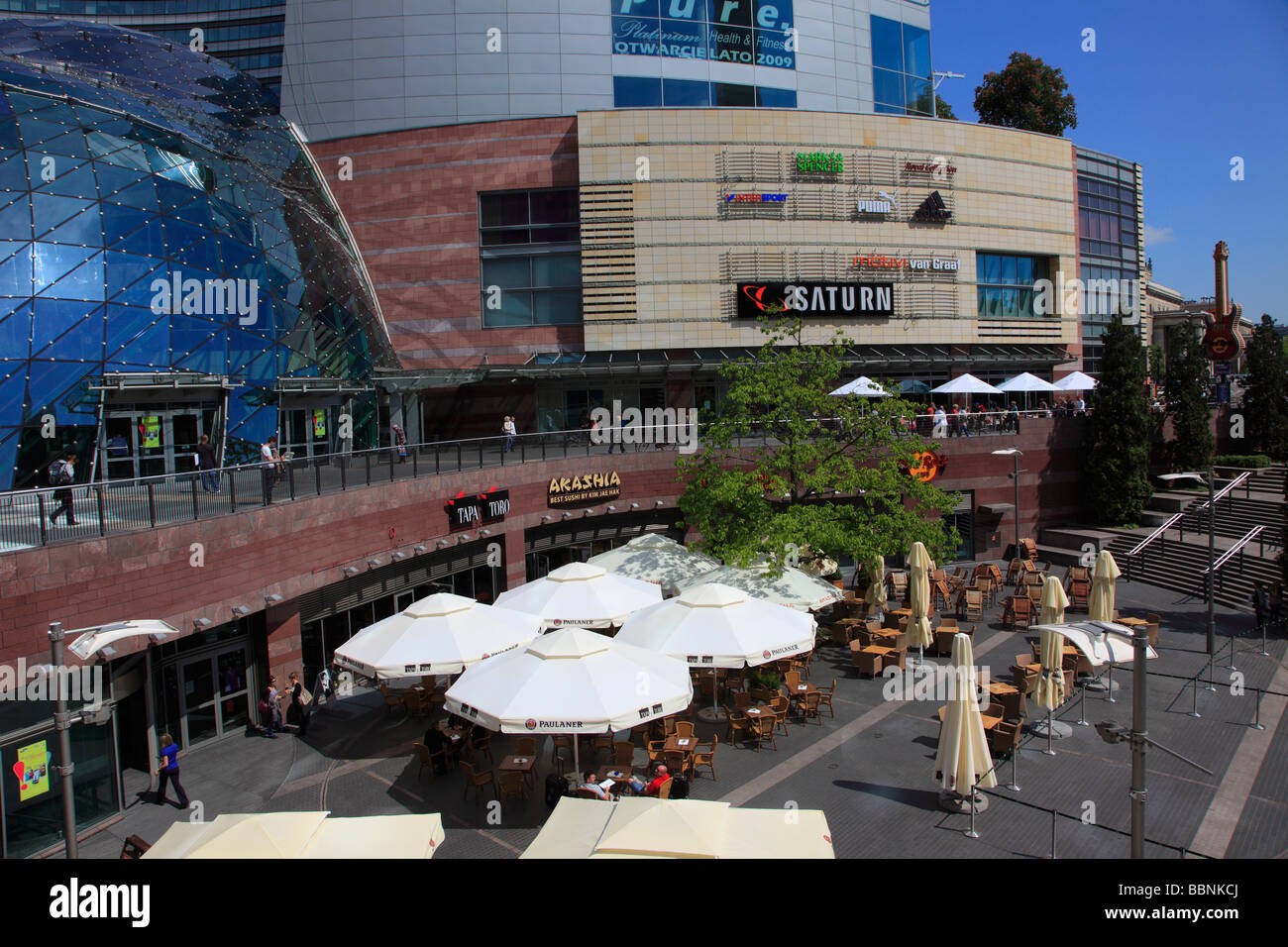 Poland Warsaw downtown shopping and leisure complex - Stock Image