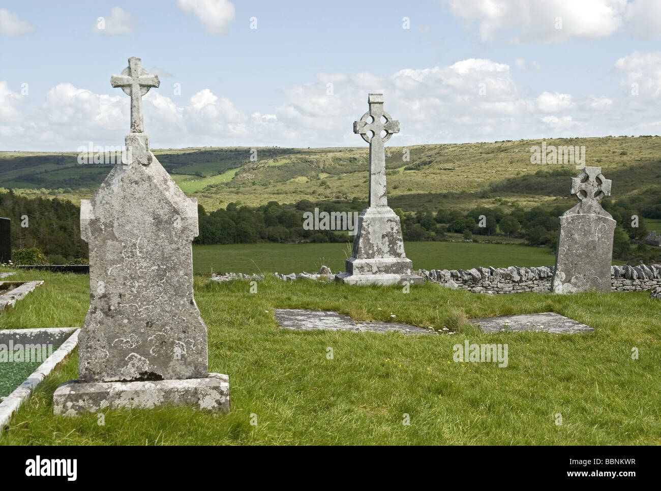 geography / travel, Ireland, County Clare, Burren, monments, celtic crosses, Additional-Rights-Clearance-Info-Not - Stock Image