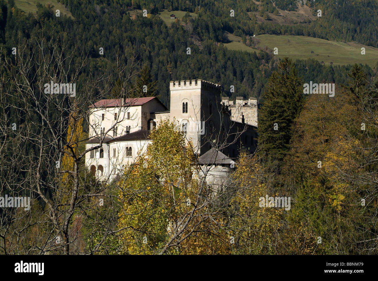 geography / travel, Austria, Tyrol, Weissenstein Castle near Matrei, exterior view, Additional-Rights-Clearance - Stock Image