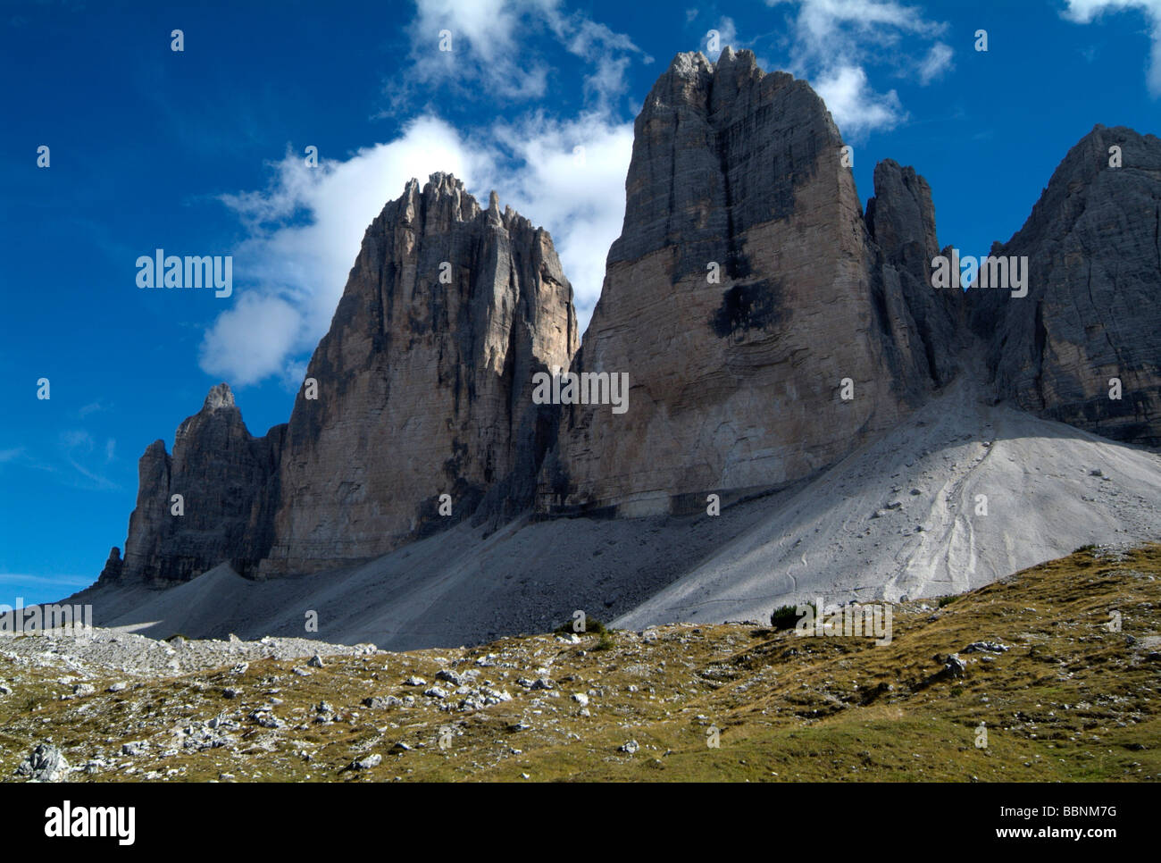 geography / travel, Italy, South Tyrol, Dolomiti di Sesto, backside of Tre Cime, Additional-Rights-Clearance-Info - Stock Image