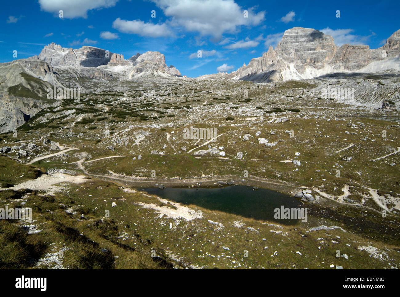 geography / travel, Italy, South Tyrol, Dolomiti di Sesto, Tre Cime, Europe, Eastern Alps, mountain / mountains, Stock Photo