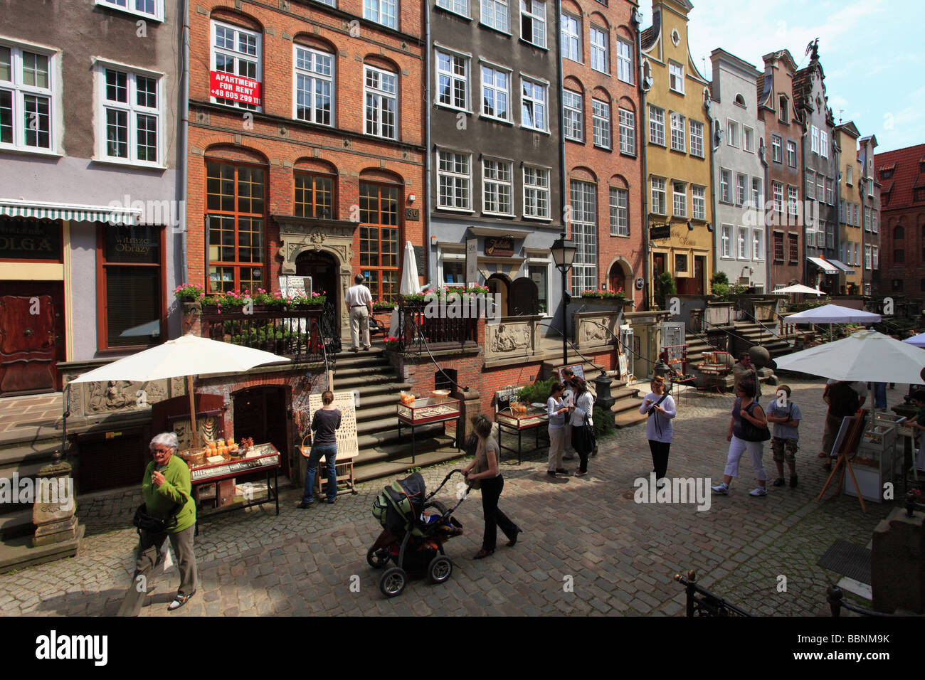 Poland Gdansk Mariacka Street boutiques - Stock Image