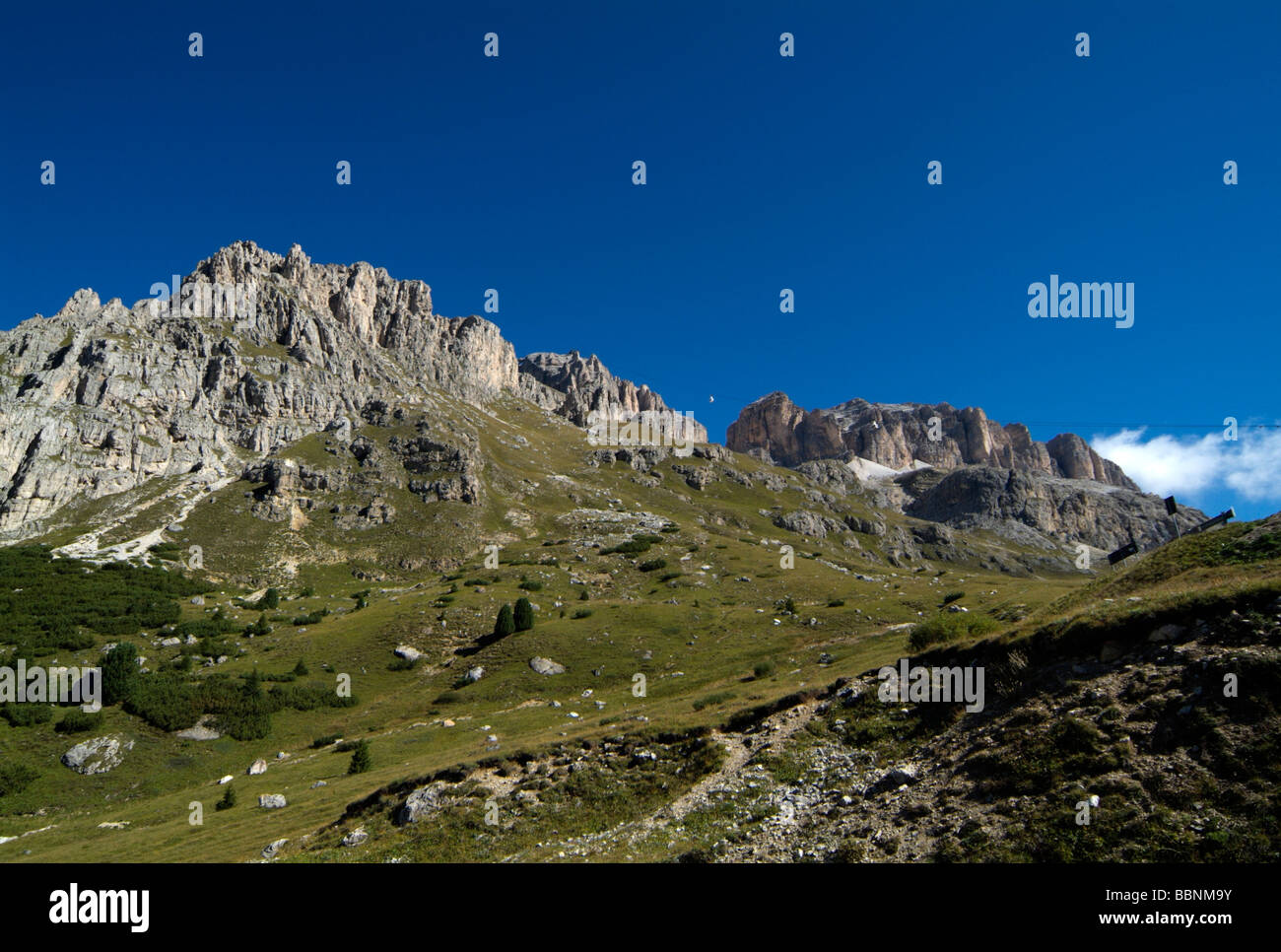 geography / travel, Italy, Trentino, cable car to the Pordoi Pass, Additional-Rights-Clearance-Info-Not-Available - Stock Image