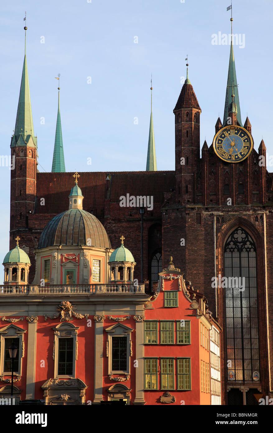 Poland Gdansk Royal Chapel St Mary s Basilica - Stock Image