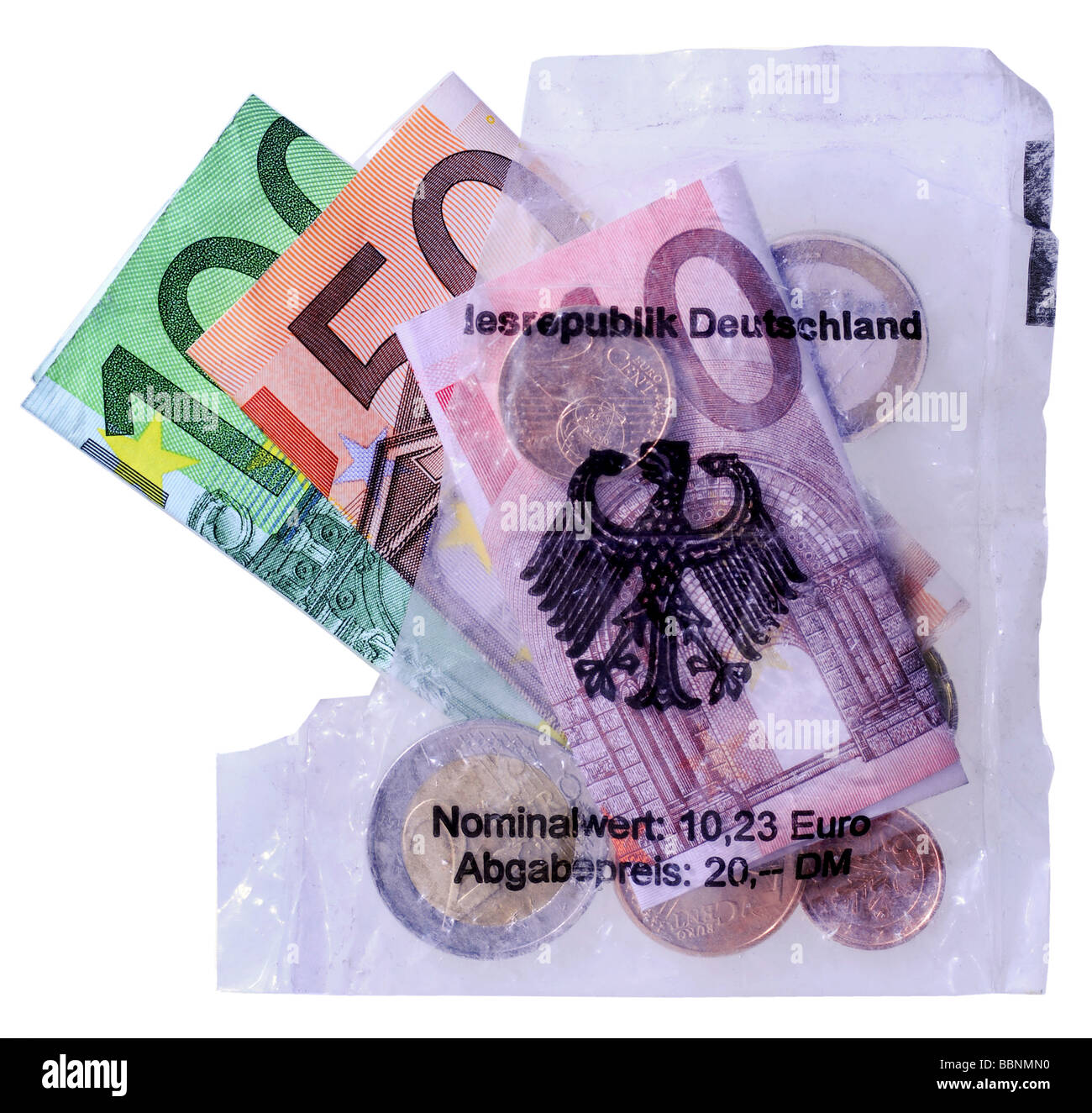 money, Euro starterkit, Germany, 2001 / 2002, Additional-Rights-Clearances-NA - Stock Image