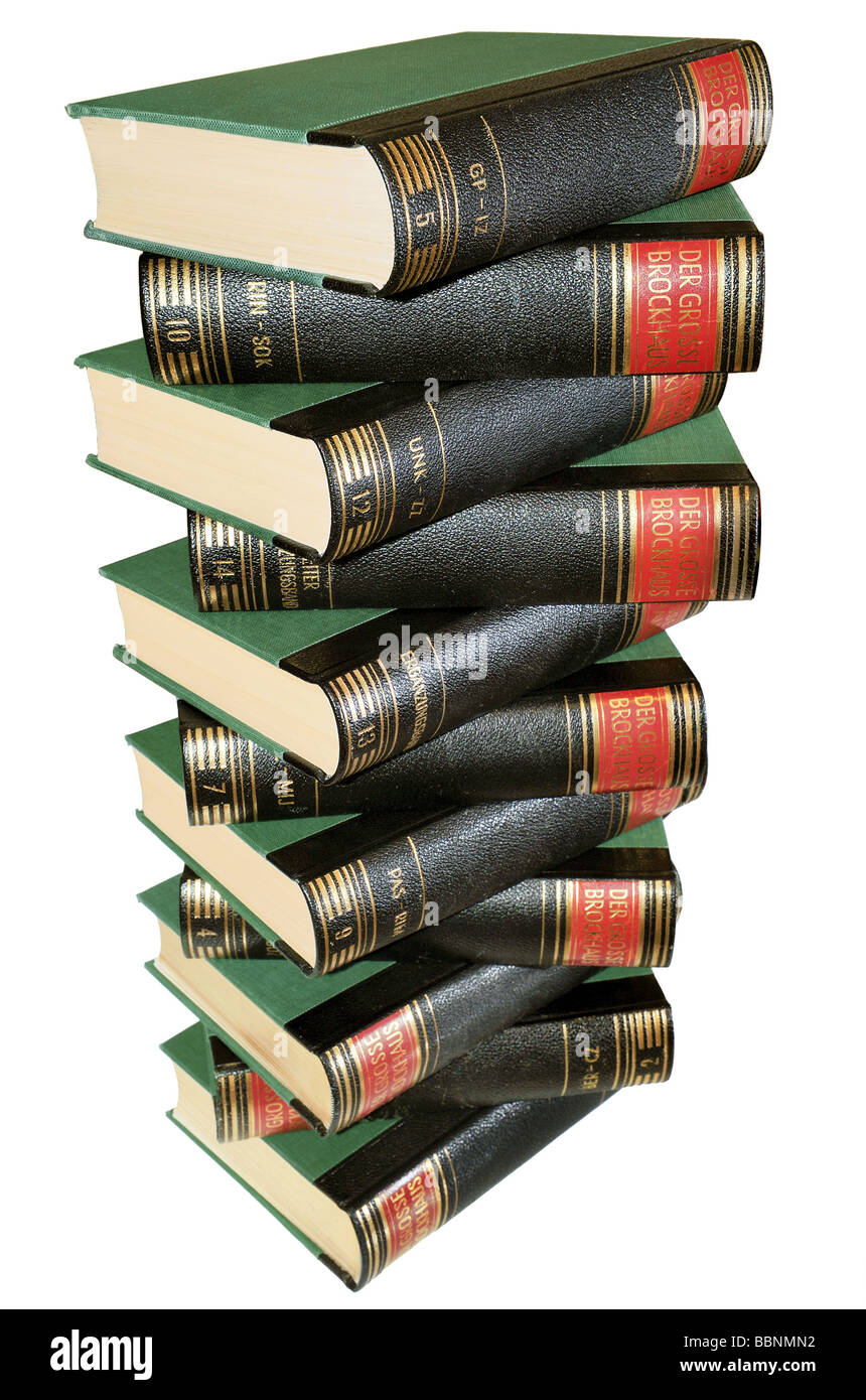 "literature, books, ""Der Grosse Brockhaus"" (The Brockhaus Enzyklopädie), Germany, 1953, Additional-Rights-Clearances Stock Photo"