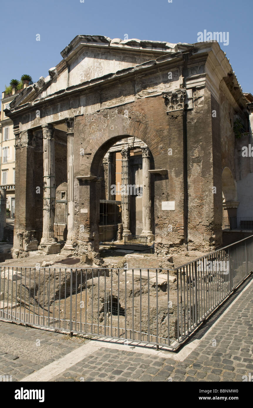 geography / travel, Italy, Rome, Portico Octavia, Additional-Rights-Clearance-Info-Not-Available - Stock Image