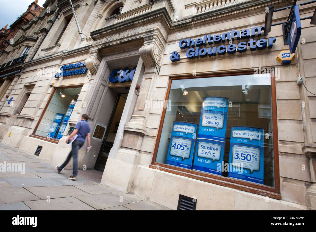 A branch of the Cheltenham & Gloucester Building Society, Gloucester, Gloucestershire UK - Stock Image