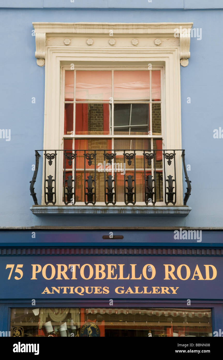geography / travel, Great Britain, London, Notting Hill, Portobello Road, antique, gallery, Additional-Rights-Clearance - Stock Image