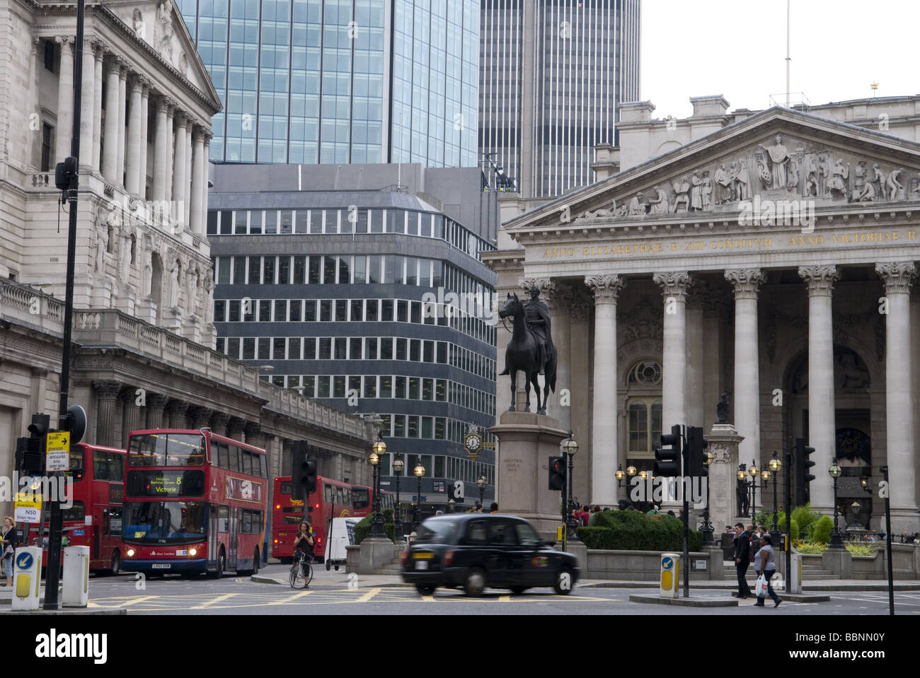 geography / travel, Great Britain, London, Bank of England and London Stock Exchange, exterior view, Additional - Stock Image