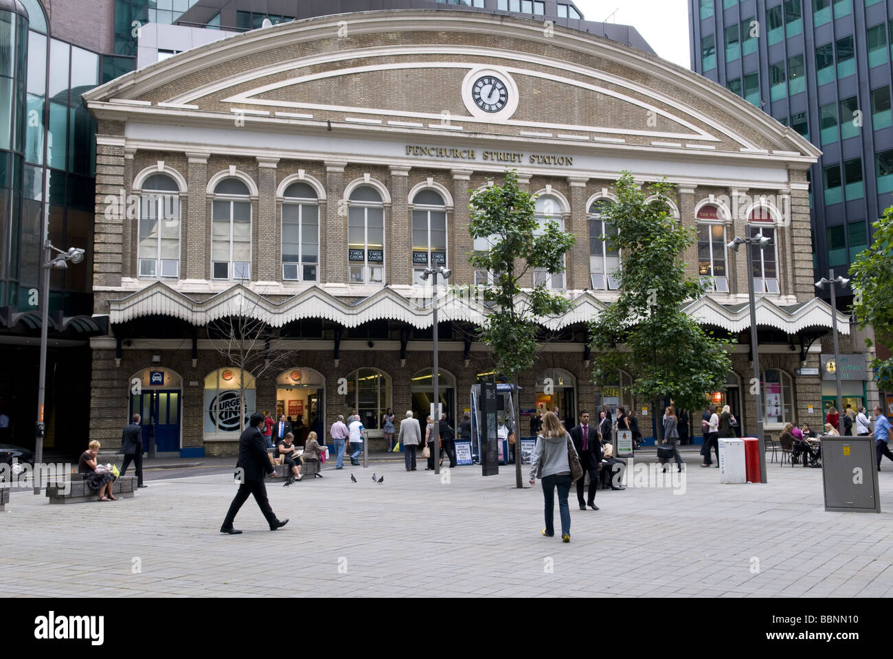 geography / travel, Great Britain, London, Fenchurch Street Station, exterior view, Additional-Rights-Clearance - Stock Image
