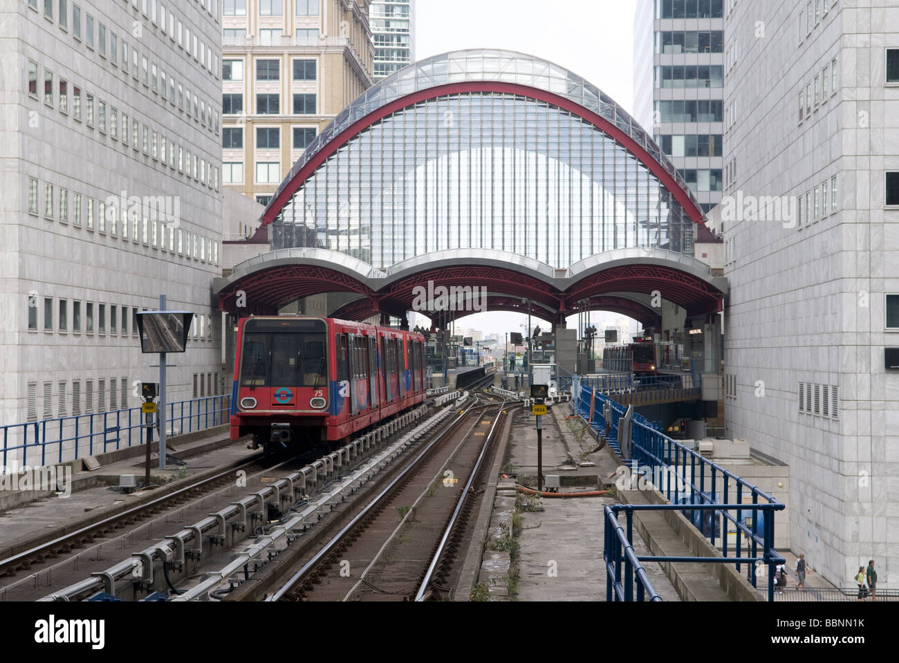 geography / travel, Great Britain, London, Docklands Light Railway, station, Additional-Rights-Clearance-Info-Not - Stock Image