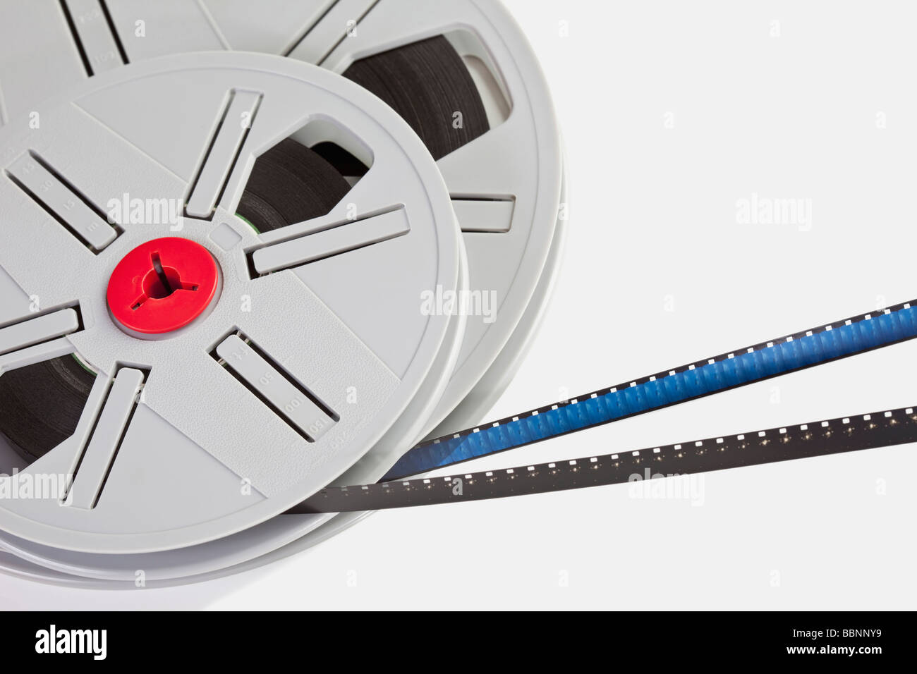 Film reels, elevated view - Stock Image