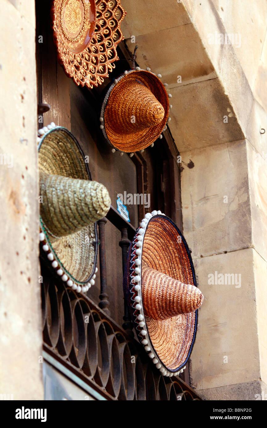 sombreros sombrero Spanish Spain Espana hat - Stock Image