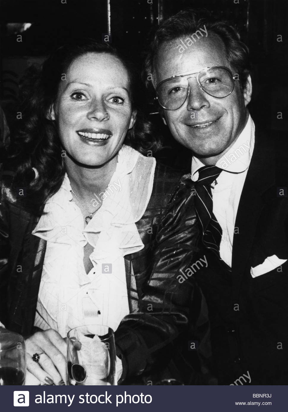 Hinz, Michael, 28.12.1939 - 6.11.2008, German actor, with his wife Viktoria Brams, 1980s, Additional-Rights-Clearances - Stock Image