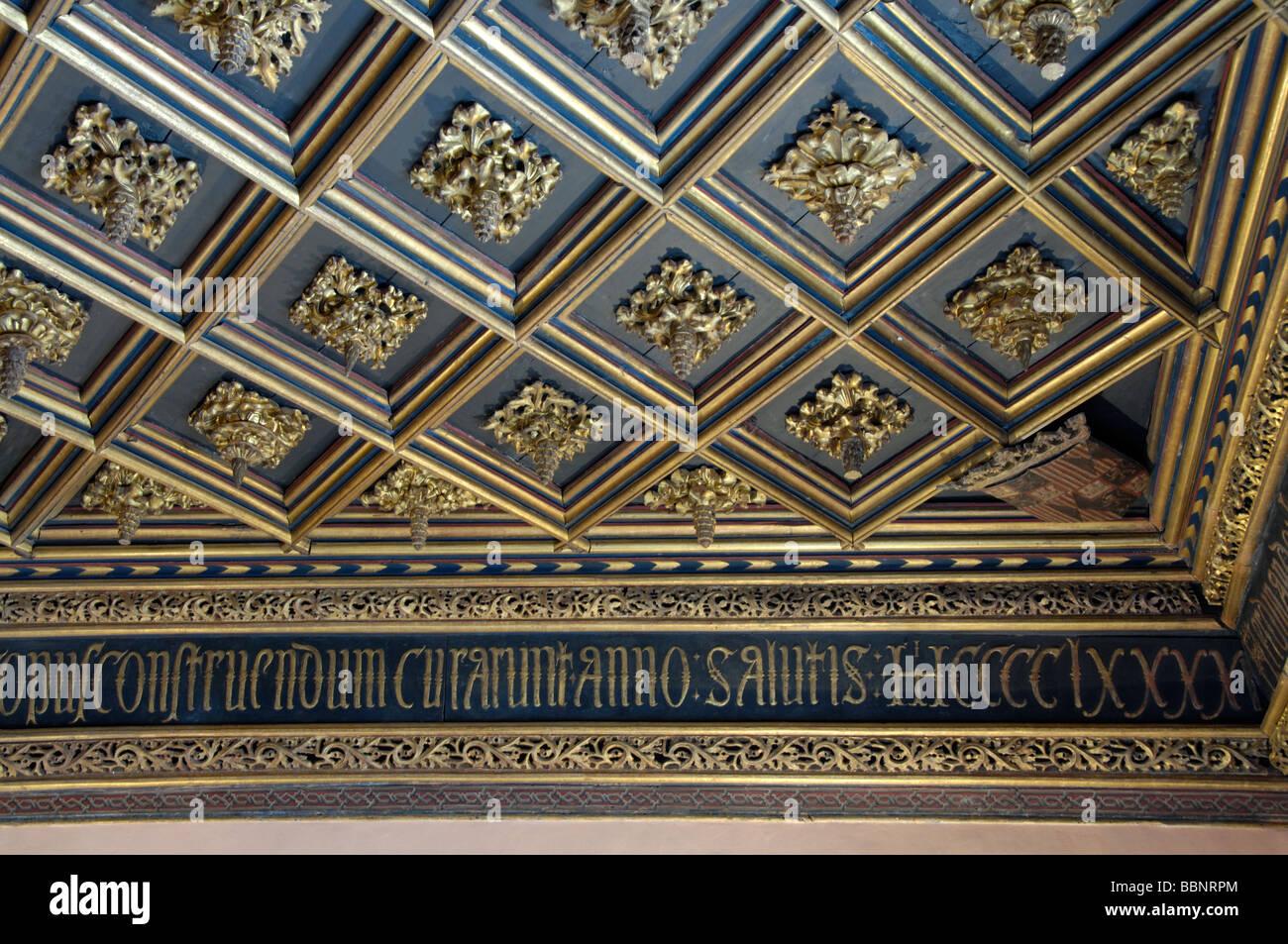 Aljaferia's Palace in Zaragoza.The Palace of Catholic Monarches of Spain. - Stock Image