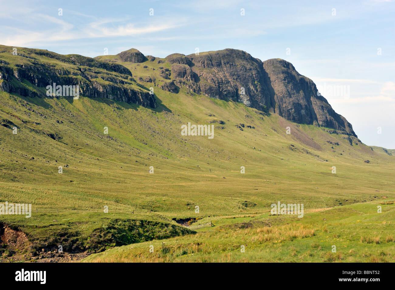 Preshal More, Gleann Oraid, Minginish, Isle of Skye, Inner Hebrides, Scotland, United Kingdom, Europe. Stock Photo