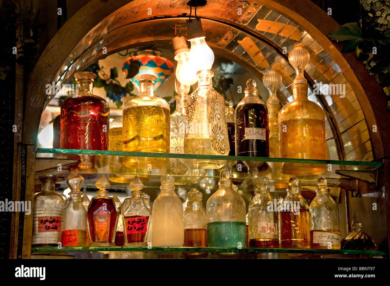 Khan el Khalili Cairo Egypt Bazaar Perfume Bottle - Stock Image