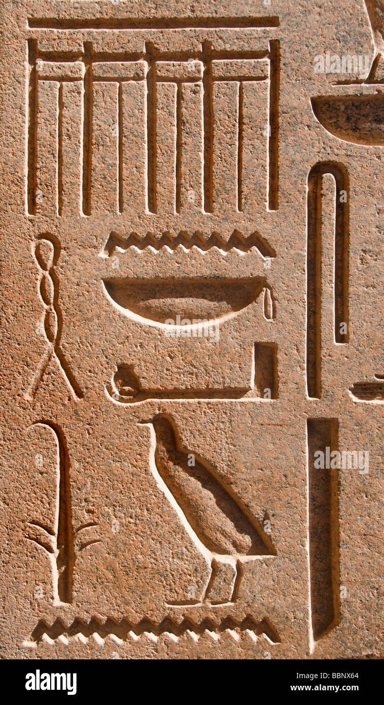 Temple of Karnak Khonso Amon Ra Luxor Egypt - Stock Image