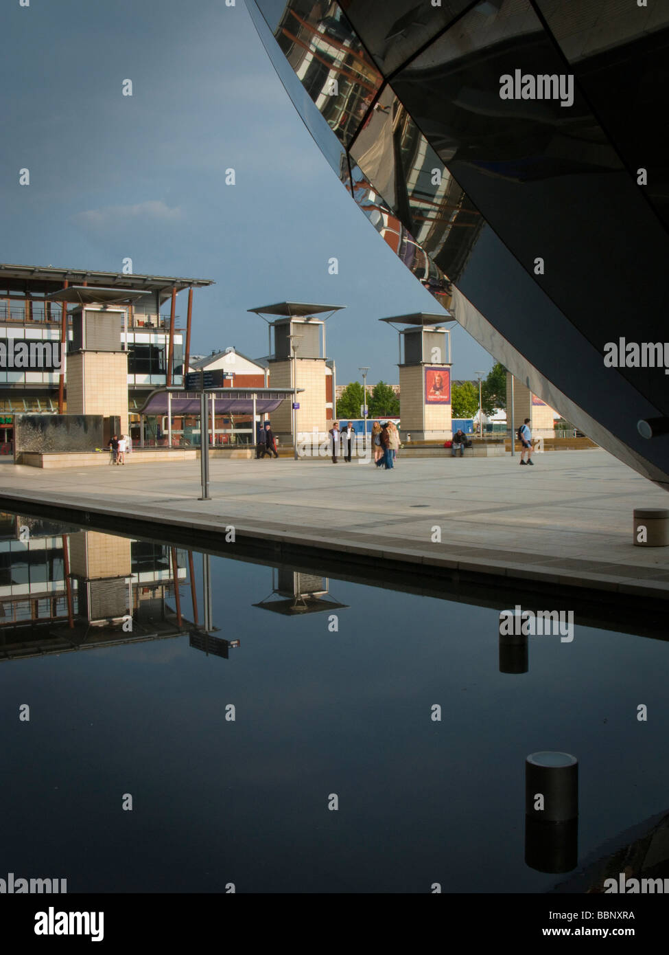 At Bristol on the harbourside William Pye water sculptures - Stock Image