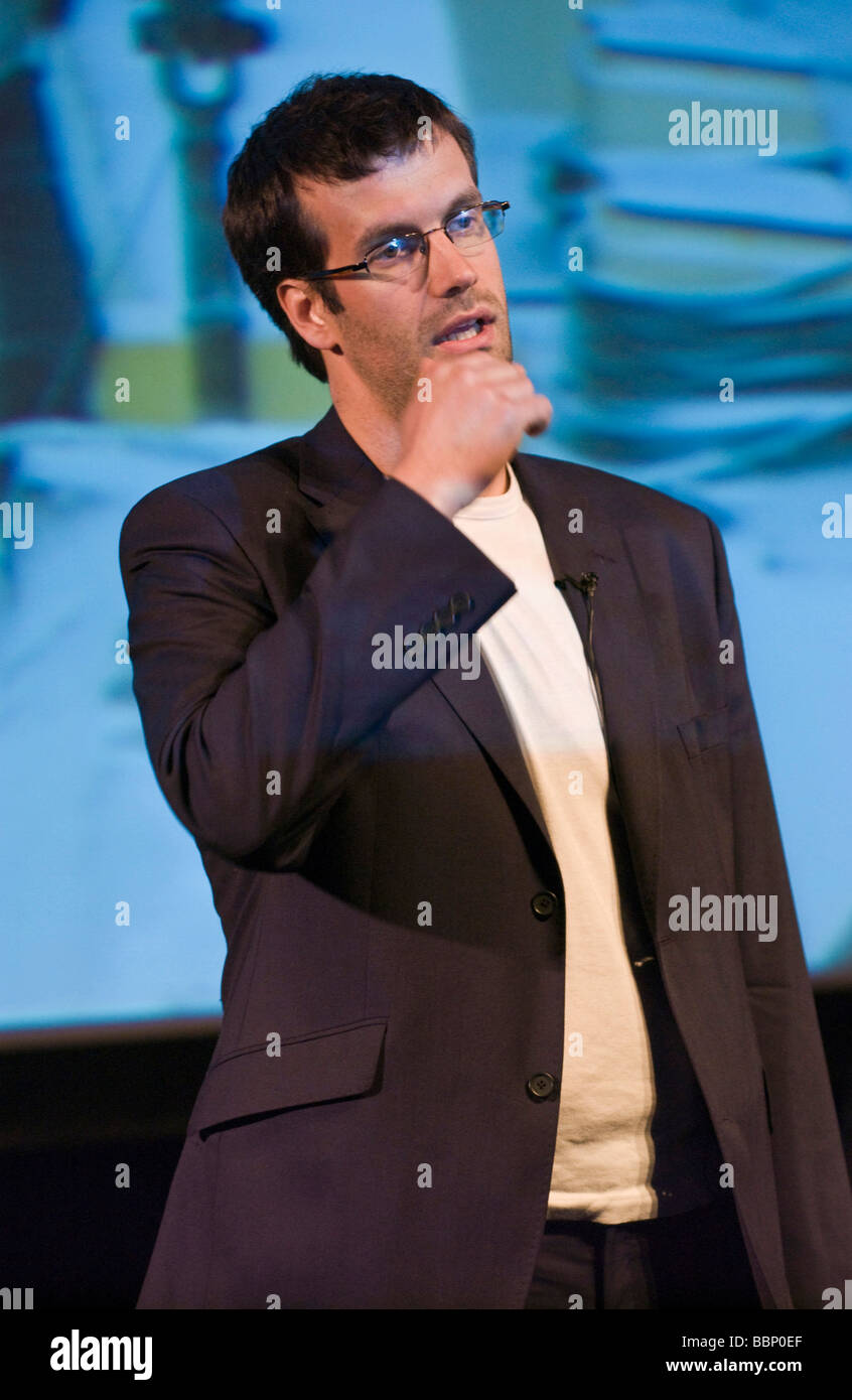 Marcus Brigstocke comedian pictured at Hay Festival 2009 - Stock Image