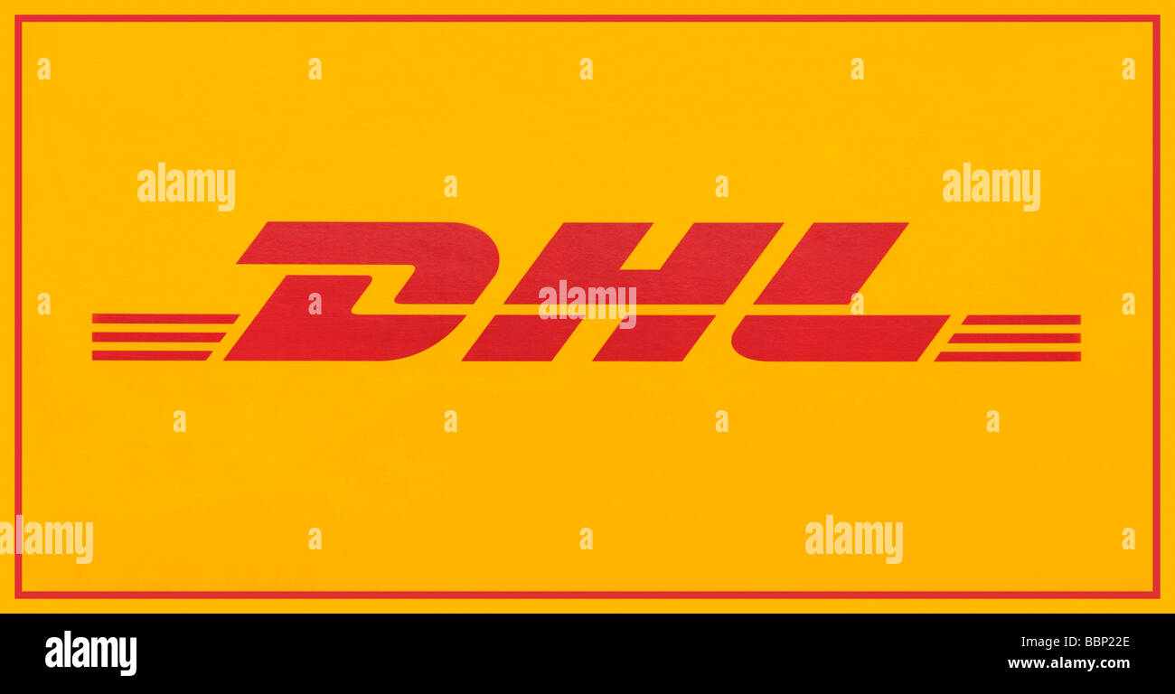 DHL mail service logo - Stock Image