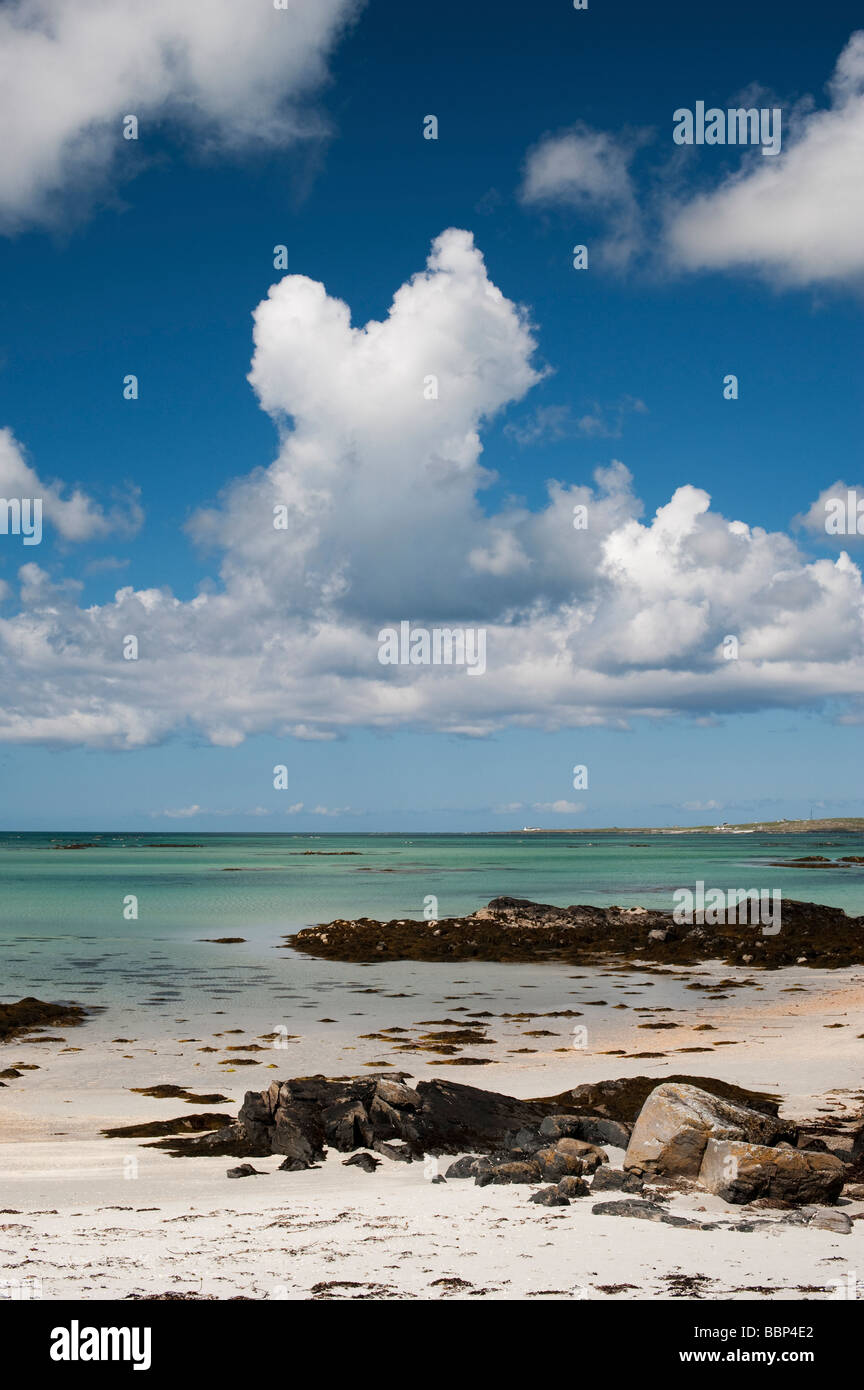 Eriskay beach, South Uist, Outer Hebrides, Scotland - Stock Image