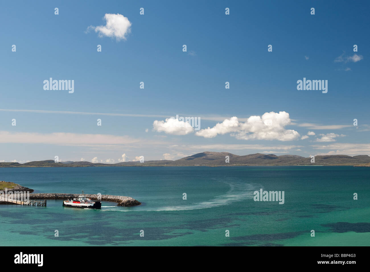 Ferry from Barra to Eriskay, South Uist, Outer Hebrides, Scotland - Stock Image