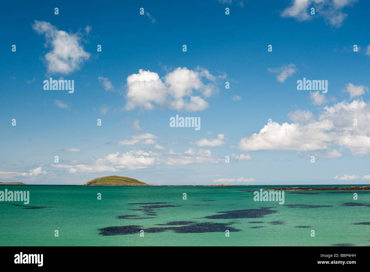 Lingeigh island off Eriskay, South Uist, Outer Hebrides, Scotland - Stock Image
