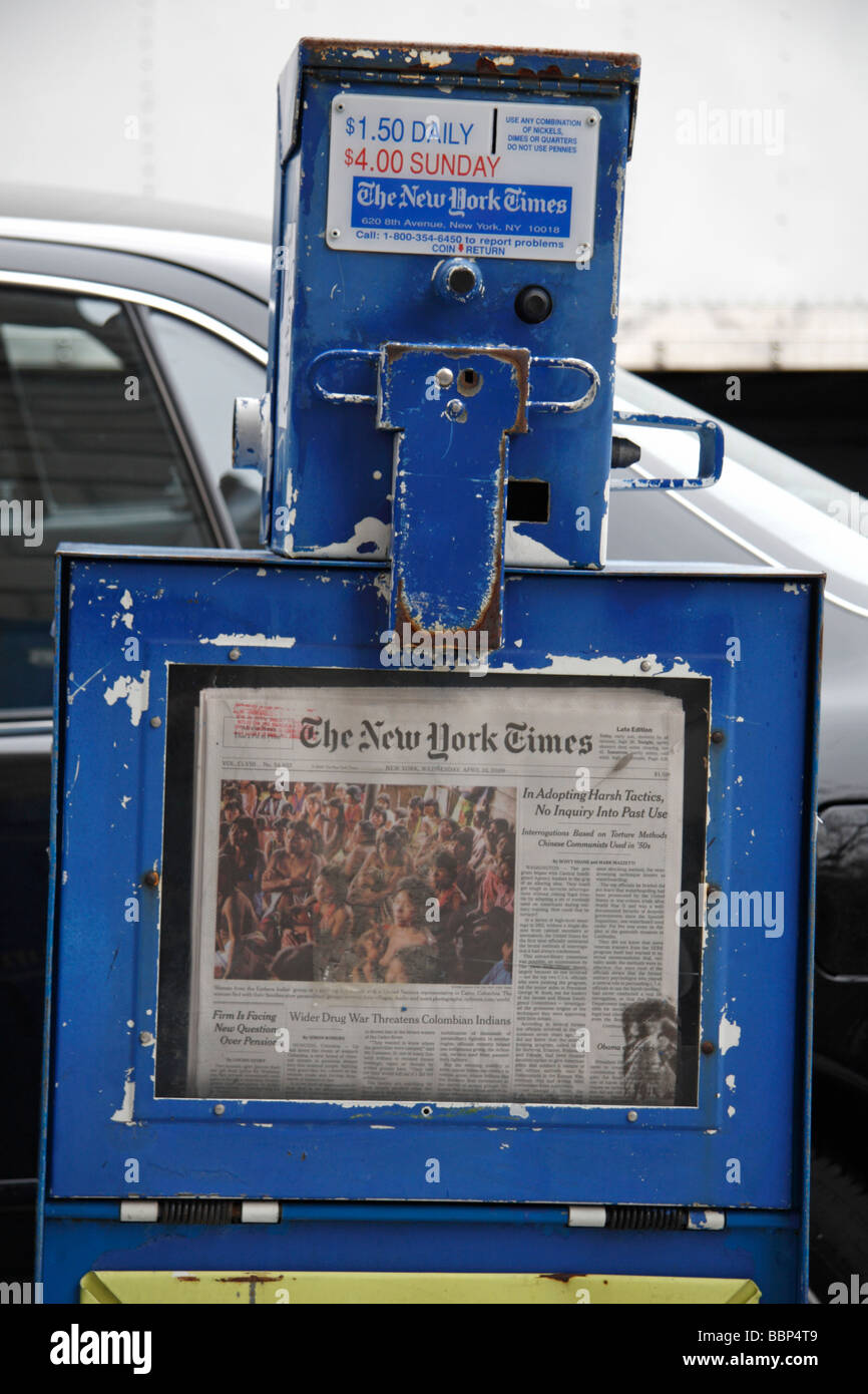 Newspaper vending machine for the New York Times in New ...