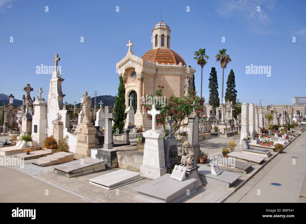 Sa Pobla Cemetery, Sa Pobla, Sa Pobla Municipality, Mallorca, Balearic Islands, Spain - Stock Image