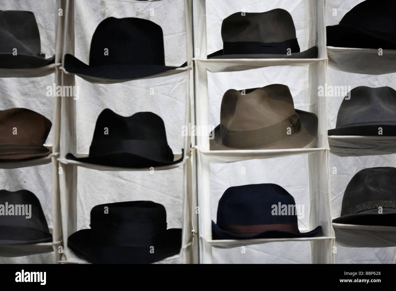 0ea718e69a360c Hats on display, on a market stall Stock Photo: 24459296 - Alamy