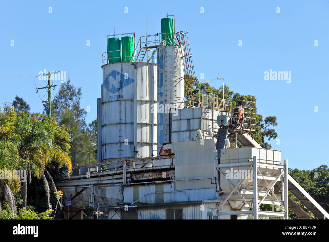 Cement plant for construction industry Stock Photo