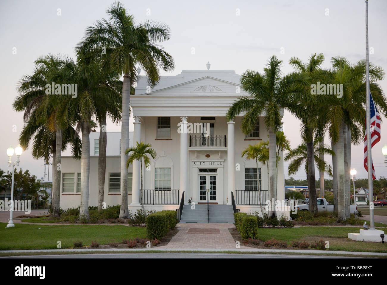 City Hall, Everglades City, Florida - Stock Image
