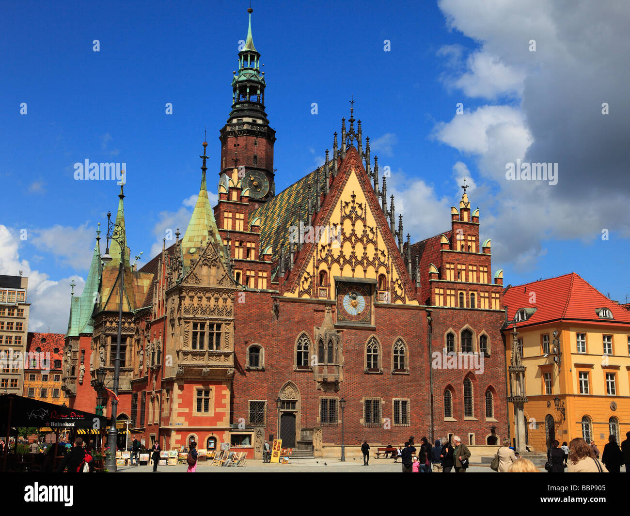 Poland Wroclaw Town Hall - Stock Image