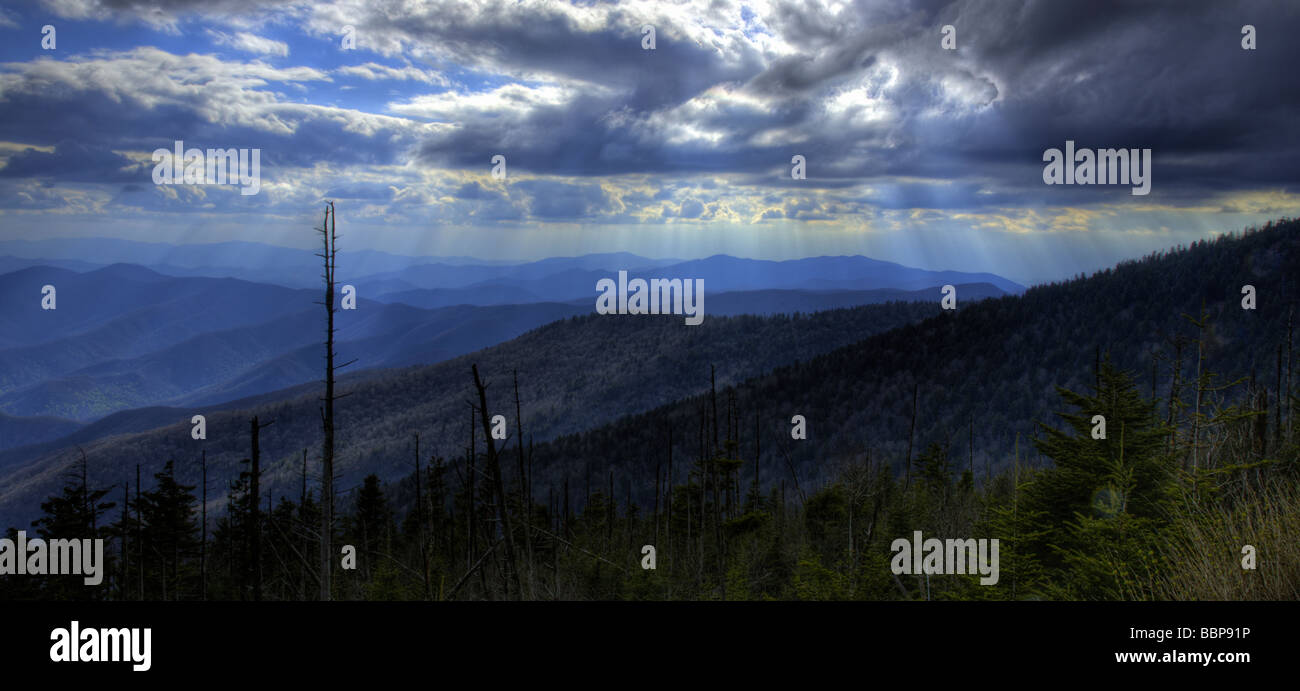 View from below Clingman's Dome, Smoky Mountains National Park, Tennessee - Stock Image