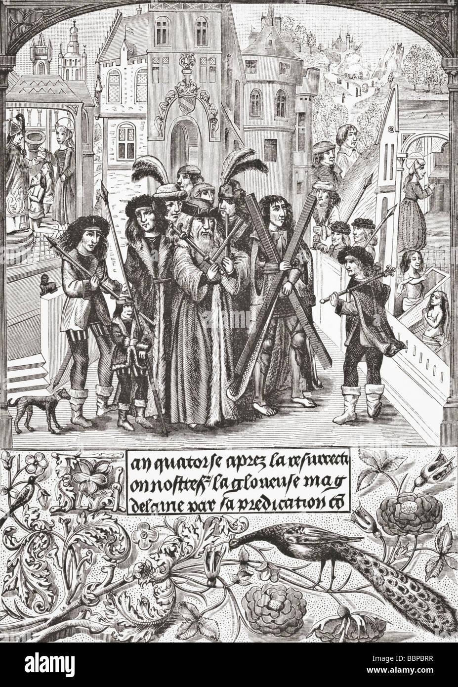 Fabled origin of the Burgundy Cross - Stock Image