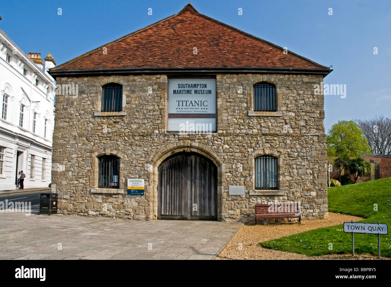 The Maritime Museum home to the Titanic Exhibition housed in a medieval wool warehouse, Southampton - Stock Photo