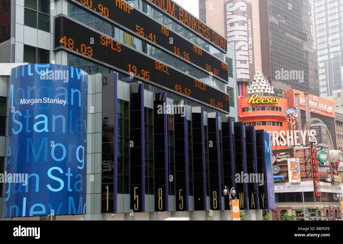 Morgan Stanley Bank on Broadway New York USA Stock Photo: 24465154
