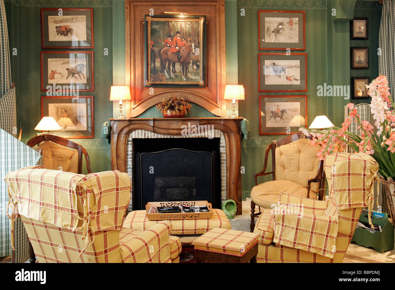 Lounge In The Hotel Saint James Trouville Sur Mer Calvados 14 Stock Photo Alamy