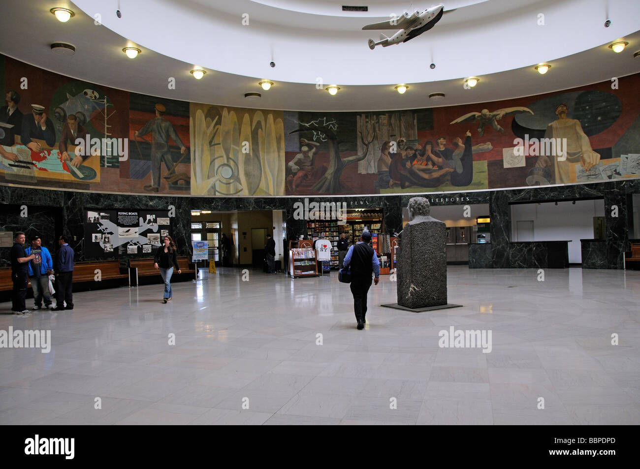 Marine Air terminal an art deco historic building La Guardia Airport ...