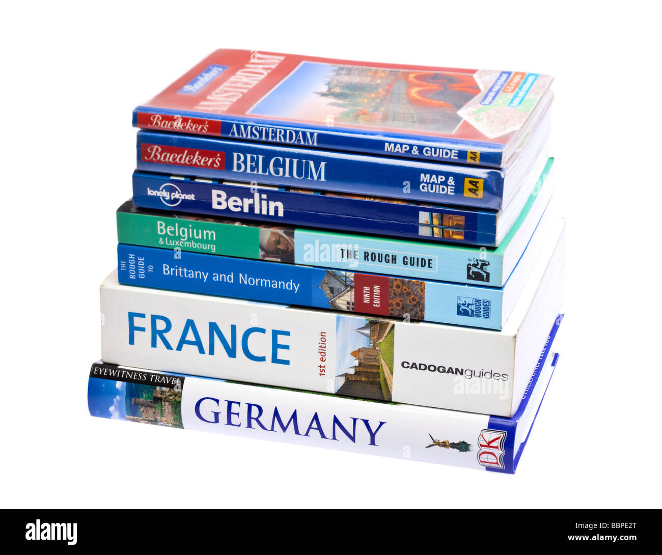 european travel guide books on white stock photo: 24465584 - alamy