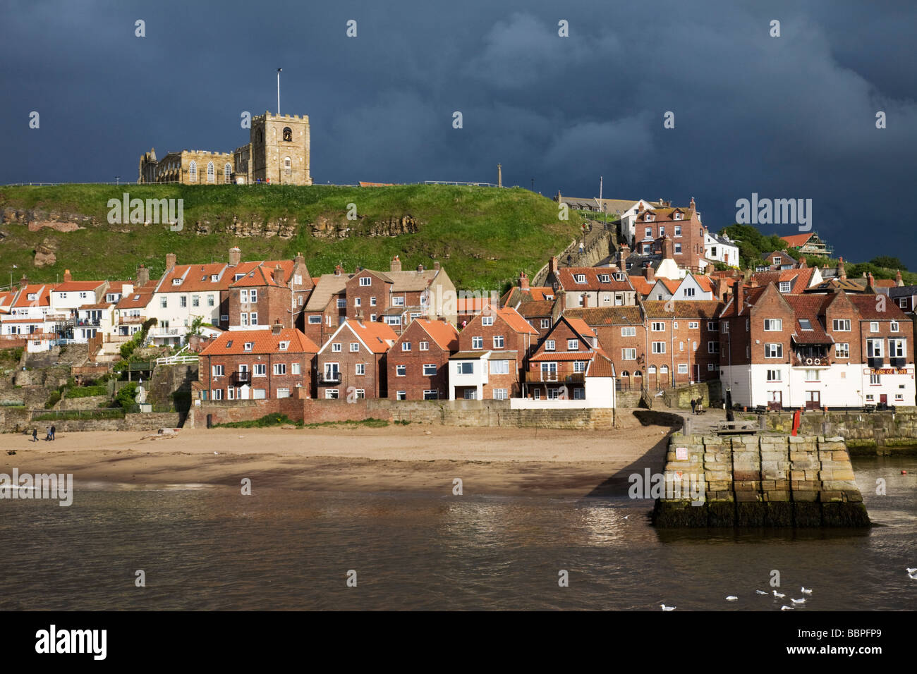 Whitby after a storm, North Yorkshire, England, UK. - Stock Image