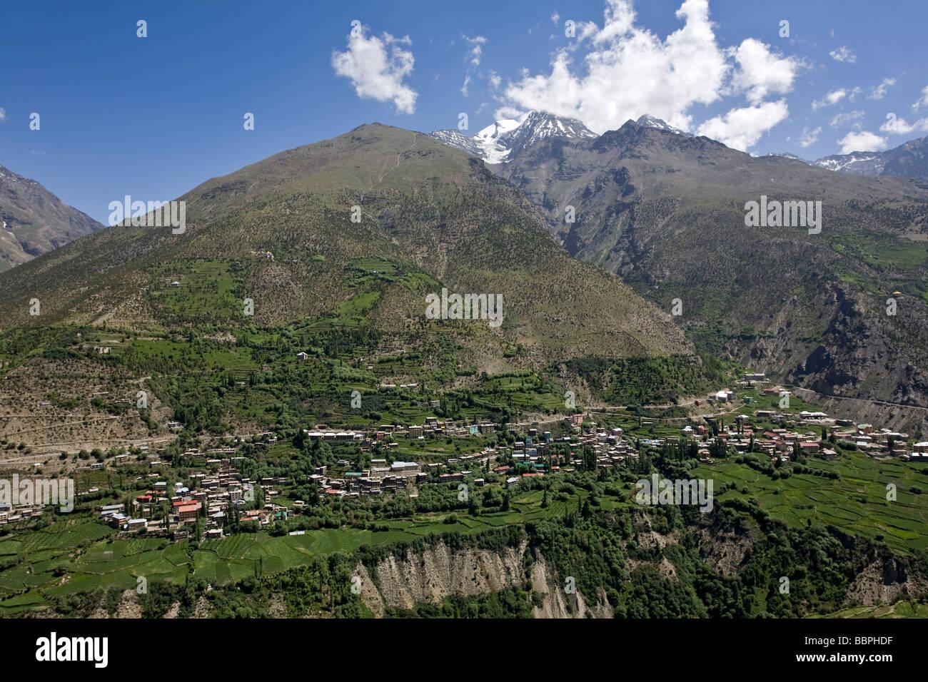 Keylong. Bhaga Valley. Himachal Pradesh. India - Stock Image
